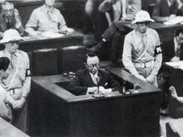 东京审判日本战犯表情