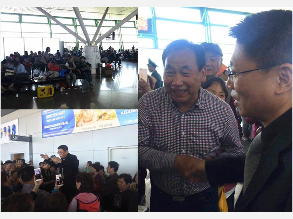 当地时间5月19日上午,一架由中国南京至意大利米兰的客机因技术故障于在哈萨克斯坦阿斯塔纳国际机场紧急迫降。机上272名乘客全部来自中国,逾半数为老人。(图源:中国驻哈萨克斯坦使馆)