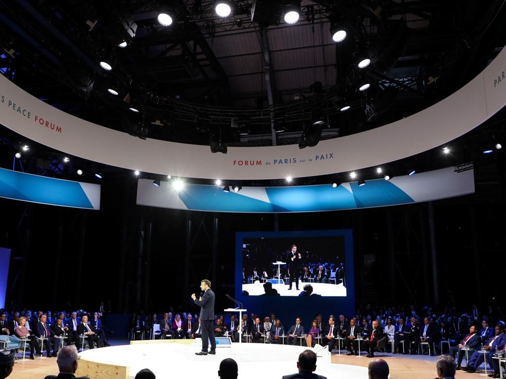 第二届巴黎和平论坛开幕 王岐山演讲谈应对世局原则[图集]